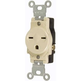 VISTA 15A/250V SINGLE STANDARD OUTLET - IVORY