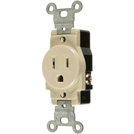 VISTA 15A/125V SINGLE STANDARD OUTLET - IVORY