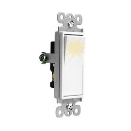VISTA VISTA 15A LIGHTED DECORA SWITCH - 3 WAY - WHITE