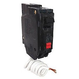 GENERAL ELECTRIC 1 POLE 15A PUSH IN GROUND-FAULT BREAKER  THQL1115GFT