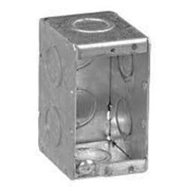 VISTA MBS-1K - 2 1/2'' DEEP 1 GANG MASONRY BOX  W/CONCENTRIC KNOCKOUTS