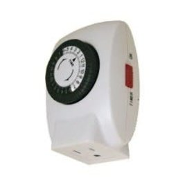 VISTA GROUNDED PLUG-IN TIMER - 15A, 120V, 1000W, 48 ON/OFF - WHITE