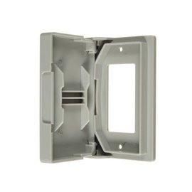 VISTA GFCI WEATHERPROOF OUTLET COVER - GREY