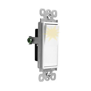 VISTA VISTA 15A LIGHTED DECORA SWITCH - S.P - WHITE