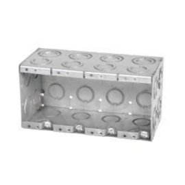 VISTA MBD-4K - 3 1/2'' DEEP 4 GANG MASONRY BOX  W/CONCENTRIC KNOCKOUTS