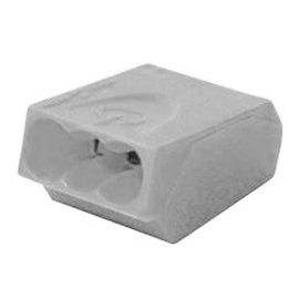 VISTA PUSH-IN CONNECTORS - GREY - 500/BAG