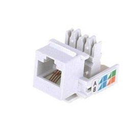 KEYSTONE TELEPHONE JACK RJ11/RJ12 - WHITE