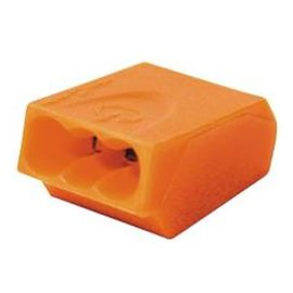 VISTA PUSH-IN CONNECTORS - ORANGE - 100/BAG
