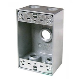 VISTA WEATHERPROOF METAL FS BOX 5 X 1/2'' HOLES - GREY