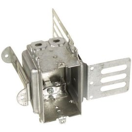 ORTECH 3104-LSSAX SINGLE GANGABLE DEVICE BOX W/WRAPAROUND BRACKET & CLAMPS 2-1/2'' D X 3''H X 2''W