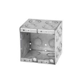 VISTA MBD-2K - 3 1/2'' DEEP 2 GANG MASONRY BOX  W/CONCENTRIC KNOCKOUTS