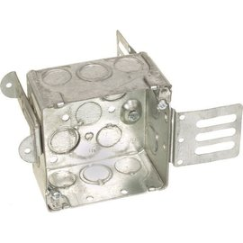 ORTECH 52171-KSSX SQUARE STEEL JUNCTION BOX W/WRAPAROUND BRACKET 2-1/8''D X 4''H X 4''W