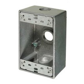 VISTA WEATHERPROOF METAL FS BOX - 3 X 1/2'' HOLES - GREY