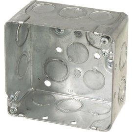 ORTECH 52171K 4 X 4 X 2-1/8 SQUARE STEEL JUNCTION BOX