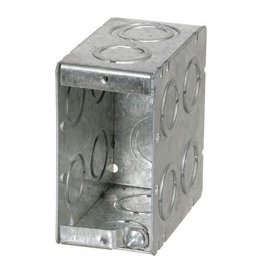 VISTA MBD-1K - 3 1/2'' DEEP 1 GANG MASONRY BOX  W/CONCENTRIC KNOCKOUTS