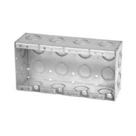 VISTA MBS-4K - 2 1/2'' DEEP 4 GANG MASONRY BOX  W/CONCENTRIC KNOCKOUTS