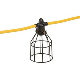VISTA 15M STRING LIGHT CORD - 12/3 STW - 5 METAL CAGES - YELLOW