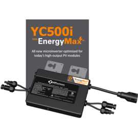 SOLAR 548W DUAL INVERTER WITH TRUNK CABLE, INTEGRATED GROUNDING