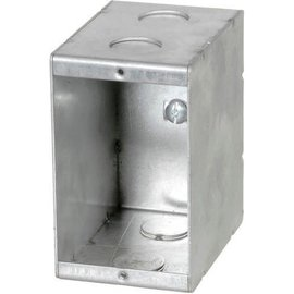 VISTA MBD-1-HV - 347V 3 3/8'' DEEP NON GANGABLE MASONRY BOX W/KOCKOUTS