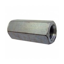 PAULIN 1/4-20 HEX COUPLING NUT ZINC PLATED