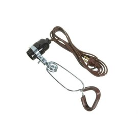 VISTA CLAMP-ON-LAMP - 18/2 SPT-2, NO REFLECTOR - 2M CORD - BROWN