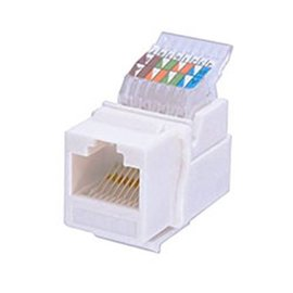 TOOLESS KEYSTONE CAT 5e JACK (RJ45) - WHITE