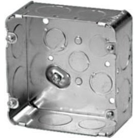 VISTA 72171-1 -  4 X 4 X 2 1/8'' DEEP SQUARE BOX WITH 1'' KNOCKOUTS