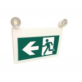 ORTECH EMERGENCY LIGHTING AND EXIT SIGN COMBO, RUNNING MAN ***NEW***