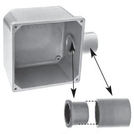 IPEX 3/4'' PVC JUNCTION BOX ADPT
