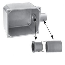 IPEX 1/2'' PVC JUNCTION BOX ADPT