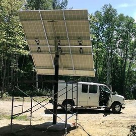 SOLAR FAST RACK TOP OF POLE MOUNT FOR 6 X 60/72 CELL MODULE 6'' COLLAR