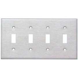 4-GANG TOGGLE PLATE #430 S.S GRADE