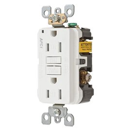 HUBBELL HUBBELL 15A 120V ARC FAULT RECEPTACLE
