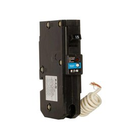 EATON EATON CUTLER HAMMER 1 POLE 15A TYPE BR COMBO ARC-FAULT/GROUND-FAULT BREAKER BRN115DFC