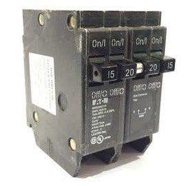 EATON EATON Cutler Hammer 15A/20A/15A Quad Circuit Breaker DNPL152015