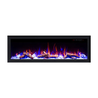 "ORTECH LED Fireplace 72"" Flush Mount New Construction Built in"