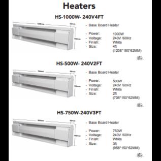 ORTECH HS-500W-240V 2FT BASEBOARD HEATERS