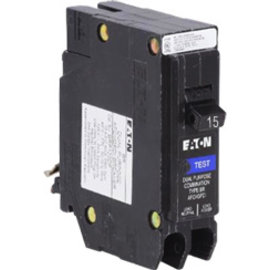 EATON 15 AMP - SINGLE POLE - COMBIMATION AFCI BREAKER ROCK & LOCK TYPE