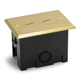 RACKATIERS RECTANGLE PLASTIC BOX KIT WITH MEDALLION COVER -BRASS
