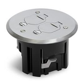 RACKATIERS ROUND PLASTIC BOX KIT WITH HINGED COVER -ALUMINUM