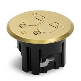 RACKATIERS ROUND PLASTIC BOX KIT WITH HINGED COVER -BRASS