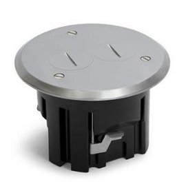 RACKATIERS ROUND PLASTIC BOX KIT WITH MEDALLION COVER -ALUMINUM
