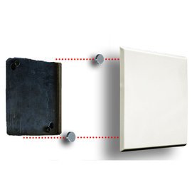 "RACKATIERS 6 1/2"" SQUARE PLATE DRYWALL HOLE COVER"