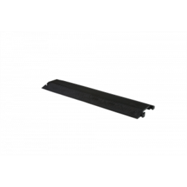 "RACKATIERS CABLE PROTECTOR-DROP OVER-LIGHT DUTY -1.5X0.5 CHANNEL 36"" -BLACK"
