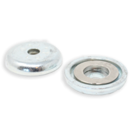 RACKATIERS MAG DADDY 26 LB. MAGNET MOUNT 6MM HOLE - SILVER (QTY 10)