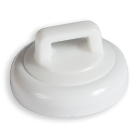 RACKATIERS MAG DADDY 15 LB. CABLE TIE MOUNT-WHITE (QTY 10)