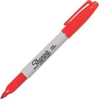 SHARPIE Sharpie Fine Permanent Markers, Red