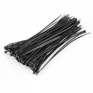 "VISTA CABLE TIES - 24"" 175LB TYPE 21S BLACK UV - 100/BAG"