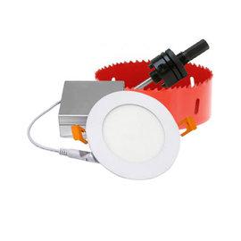 ORTECH 24 LIGHT BUNDLE - SLIM LED DOWNLIGHT 4'', 9W, 550LMN, 3000K, WHITE