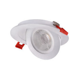 ORTECH SLIM LED DOWNLIGHT 4'', 9W 700LMN, GIMBLE, 3000K WHITE, 360 DEGREE ROTATION
